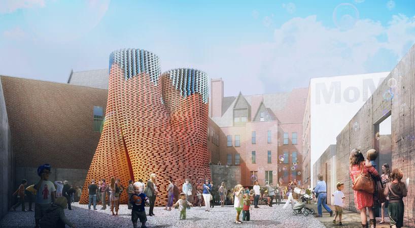 Американский архитектор создал башню из сельскохозяйственных отходов