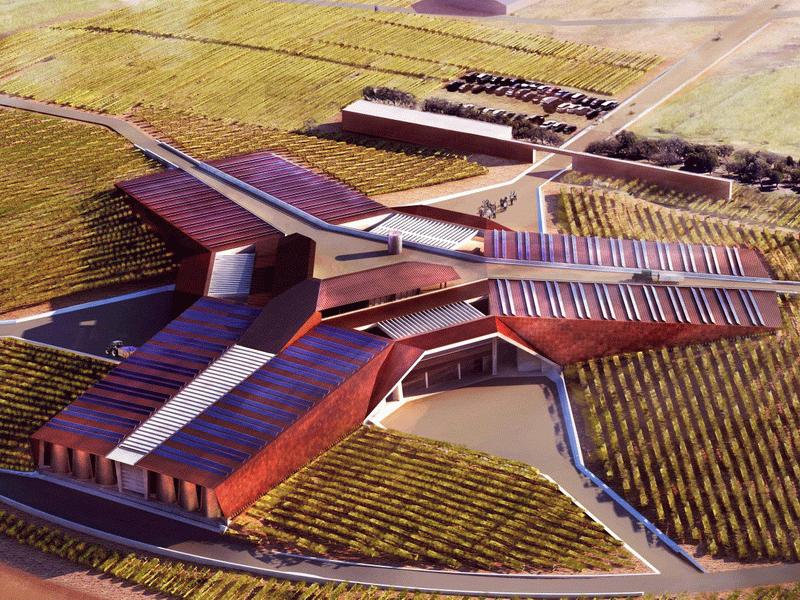 Энергоэффективная винодельня Bodegas Portia в Испании