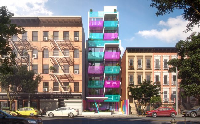 На Манхэттене построят три оптимистичных жилых дома