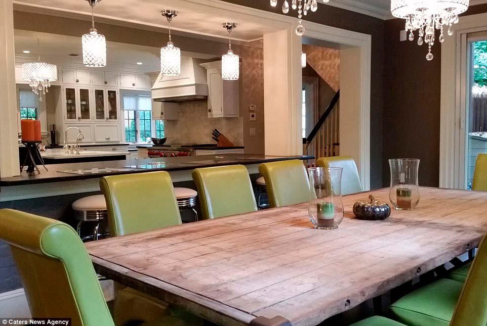 Фото красивой кухни-столовой