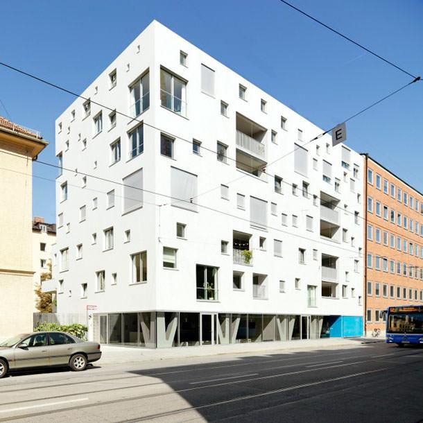 Петер Эбнер построил многоквартирный дом в Мюнхене | фото