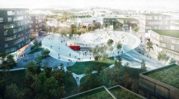 Железнодорожная станция в Винге по проекту бюро Henning Larsen Architects