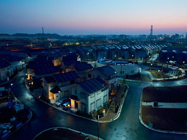 Построен эко-город в Японии. Экологичный квартал Фудзисавы