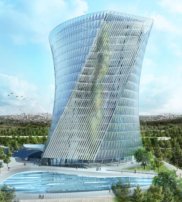 Проект башни с висячими садами от Coop Himmelb (L) AU