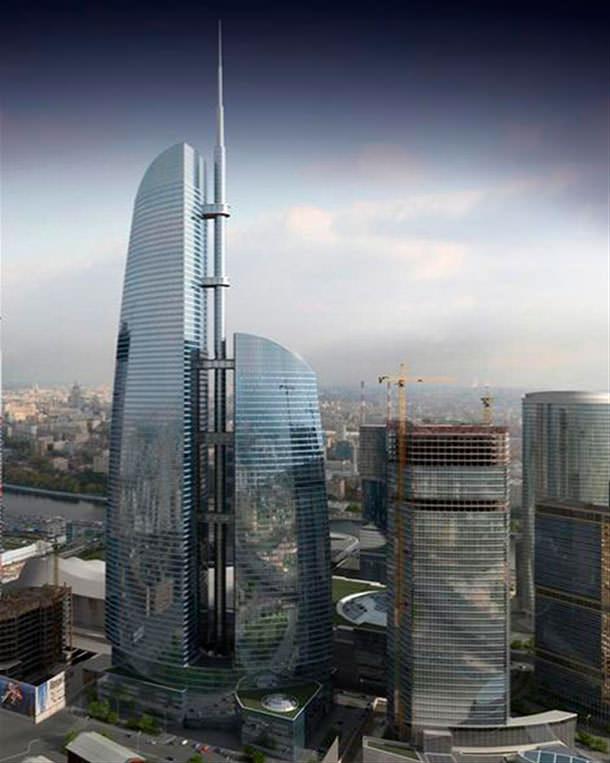 Строительство башни «Восток» в «Москва-Сити»: конец в 2016 г