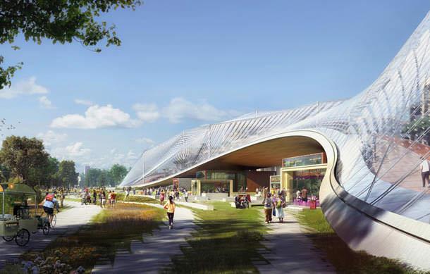 Проект кампуса для Google в Кремниевой долине от BIG и Томаса Хезервика