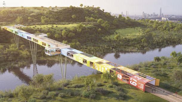 В Национальном парке Тель-Авива построят мост из старых контейнеров