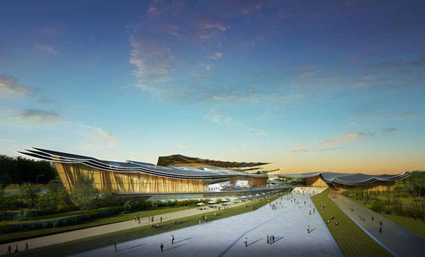 Огромный развлекательный комплекс в Китае