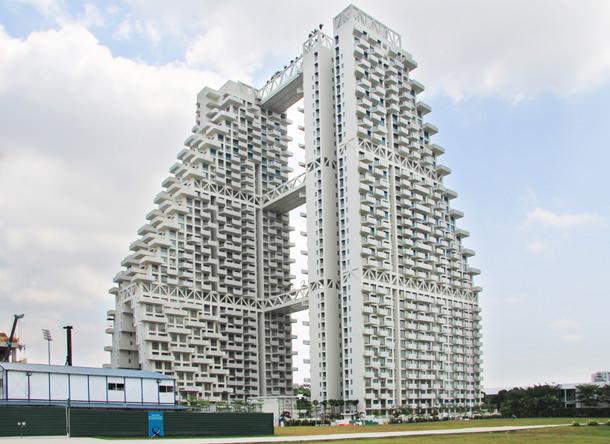 В Сингапуре завершается строительство ЖК Sky Habitat | фото