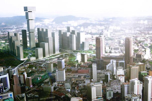 Проект перевернутого небоскреба от бюро BIG для Куала-Лумпур