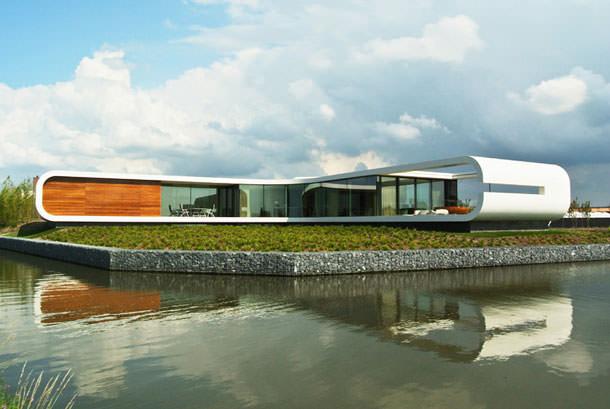 Хай-тек дом в Нидерландах, проект от Waterstudio | фото