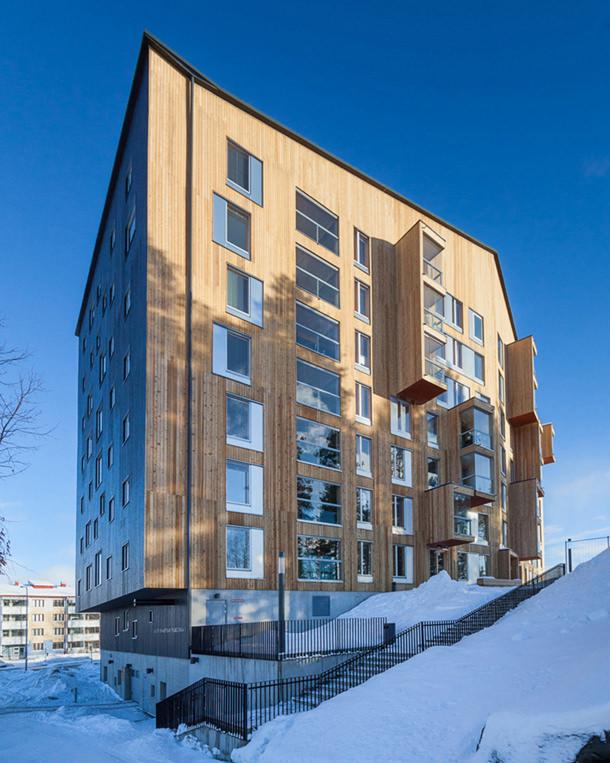 Жилой комплекс в Финляндии от бюро OOPEAA