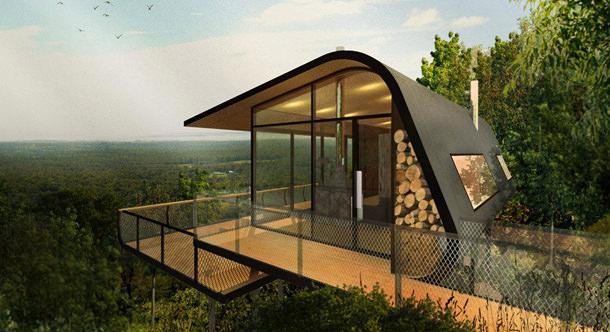 Дома для отдыха на склоне холма в Австралии по проекту ABA