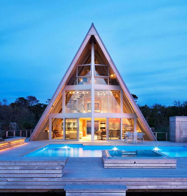 Пляжный дом на острове Файер Айленд в штате Нью-Йорк   фото