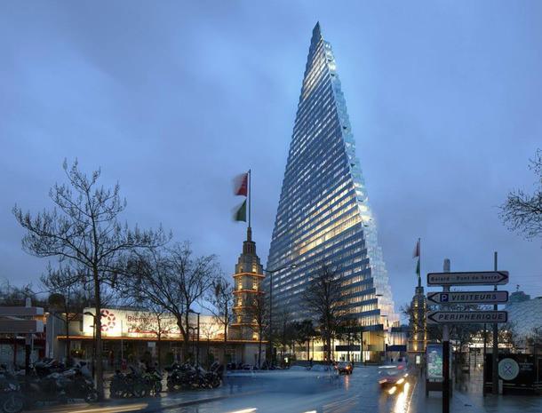 В Париже построят треугольную башню по проекту Herzog & de Meuron