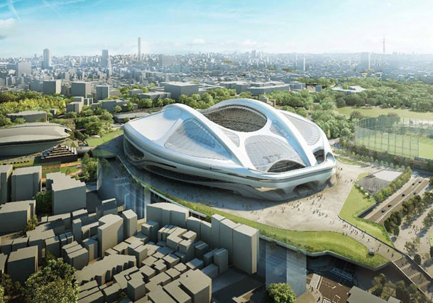 Бюро Захи Хадид обновило проект Олимпийского стадиона в Токио