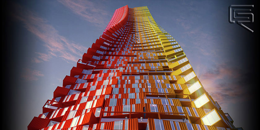 Концепт небоскреба Containscraper от CRG Architects