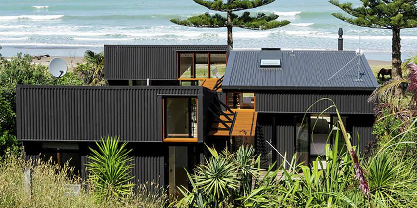 Пляжный дом в Новой Зеландии для серфера | фото, инфо