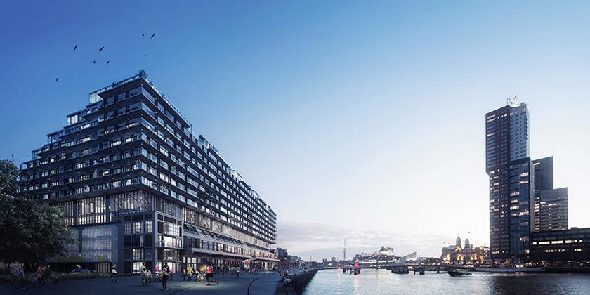 Построят новый жилой комплекс на набережной Роттердама   инфо