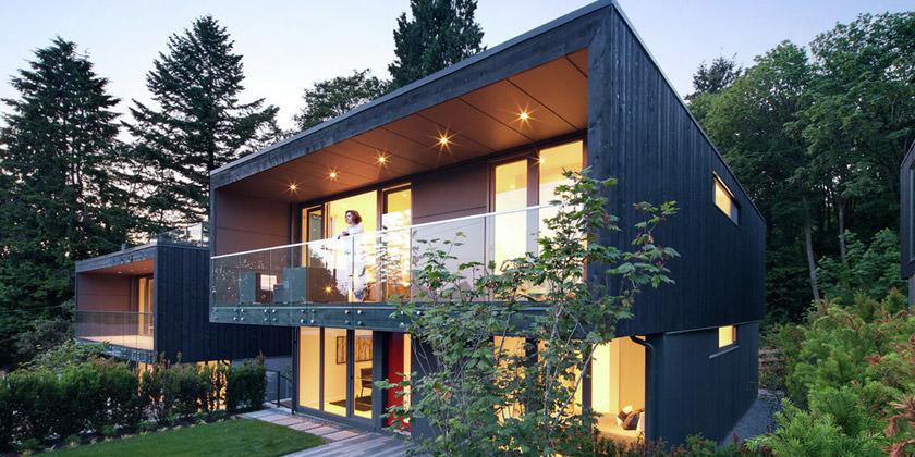 Три одинаковых дома по соседству в Ванкувере, Канада | фото