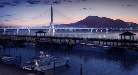 Проект моста Danjiang Bridge в Тайбэе от Zaha Hadid Architects