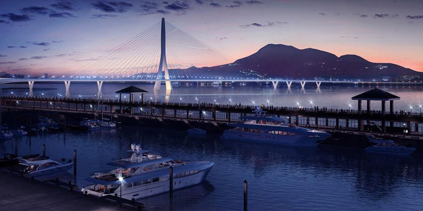 Проект моста Danjiang Bridge в Тайбэе от Zaha Hadid Architects