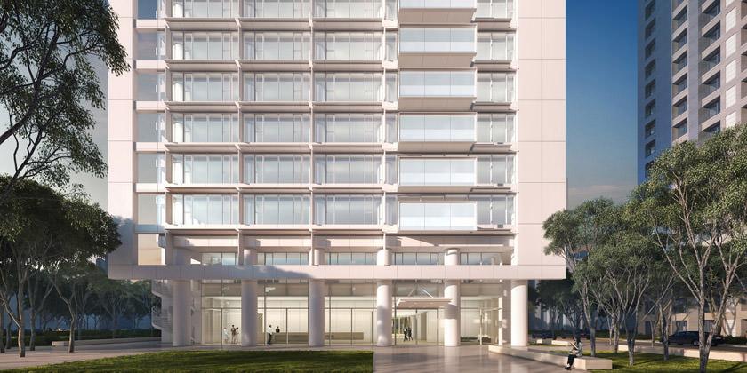 Студия Richard Meier & Partners строит 127-метровую жилую башню в Тайбэе