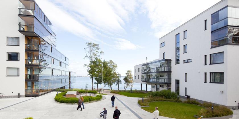 Жилой комплекс на берегу Финского залива в Хельсинки   фото