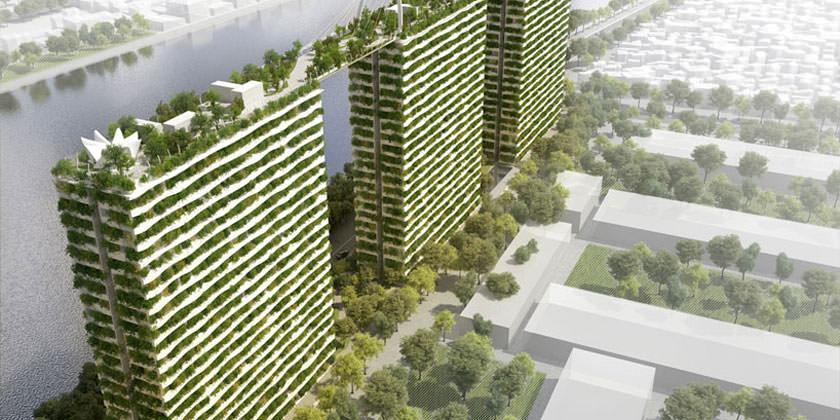 Diamond Lotus — «зеленый» жилой комплекс с грандиозным садом на крыше