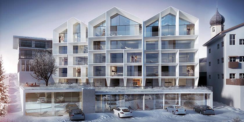 Проект обновления отеля в Италии от Peter Pichler Architecture