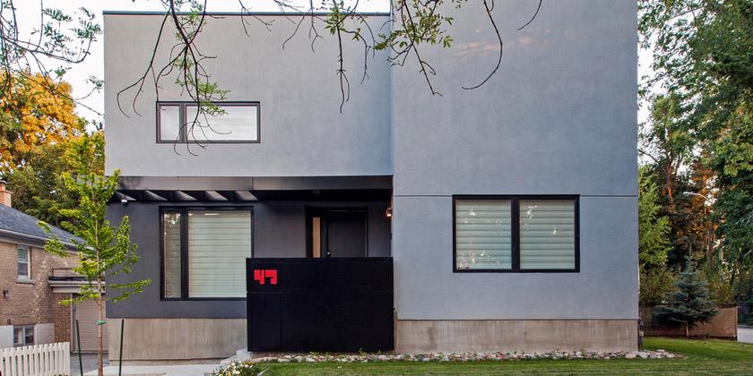 Thorax House — дом с газоном в Торонто от студии rzlbd