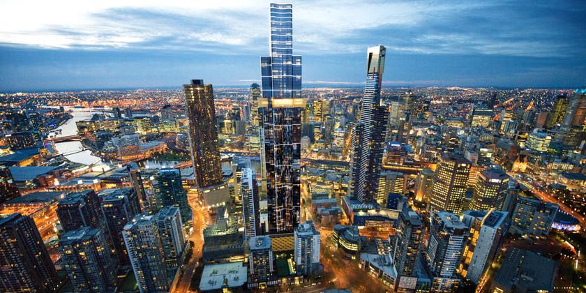 В австралийском Мельбурне началось строительство нового небоскреба