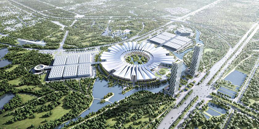 Gmp Architekten построит Национальный выставочный центр во Вьетнаме