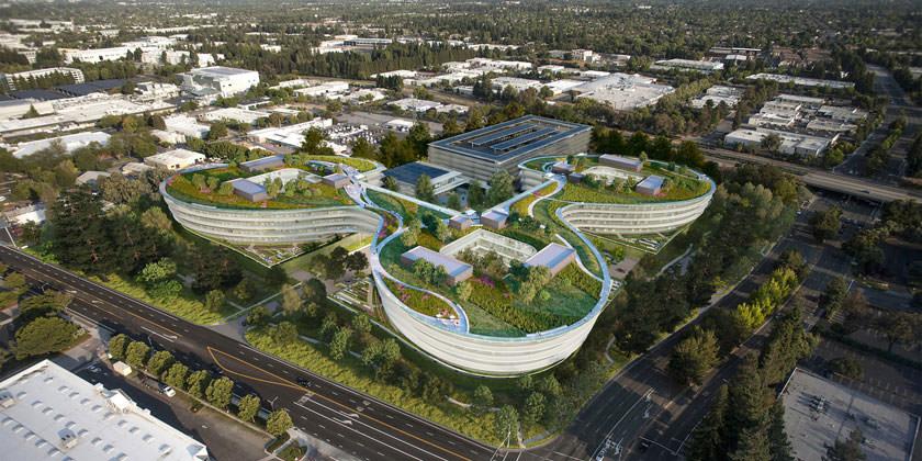 Проект нового кампуса Apple в Силиконовой долине от студии HOK