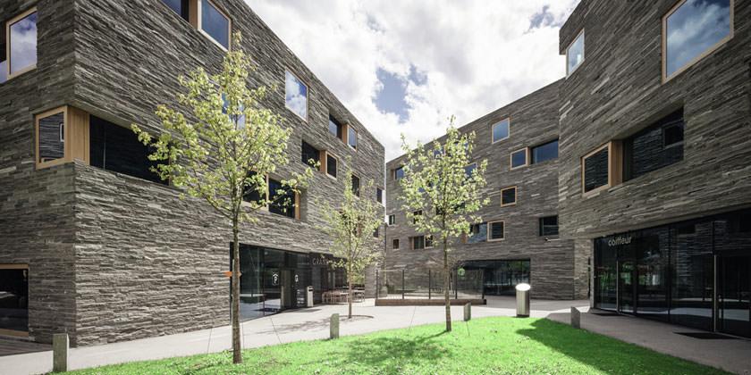 Гостиничный комплекс Rocksresort в Швейцарии от Domenig Architekten