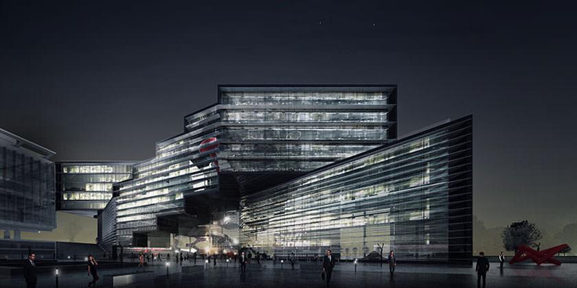 Проект новой штаб-квартиры ВОЗ Plus is more в Женеве от Paolo Venturella Architects