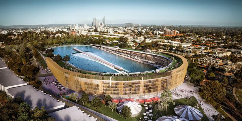 В Австралии построят парк для серферов от MJA Studio