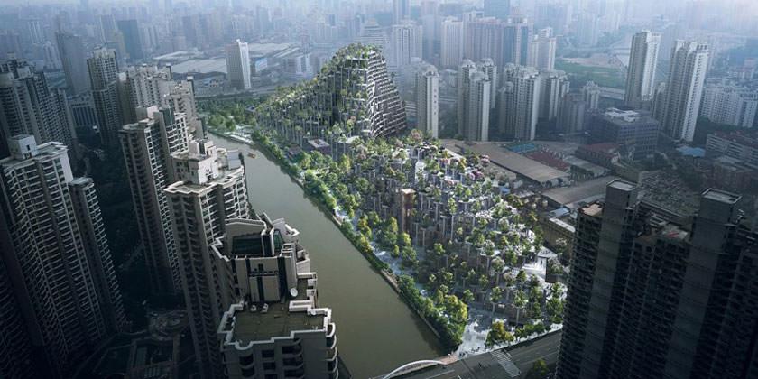 Проект зеленого квартала в Шанхае от Heatherwick Studio
