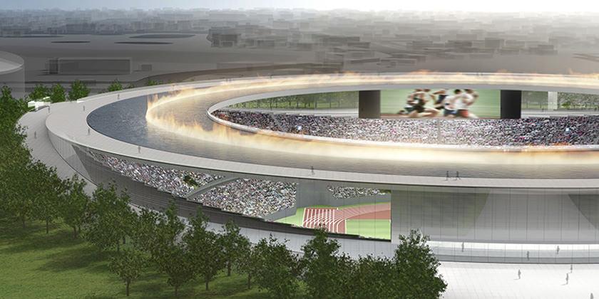 Проект Олимпийского стадиона в Токио от Kengo Kuma