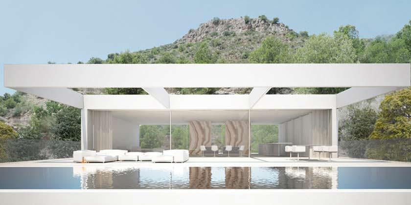 Монолитный особняк в Валенсии от Ramon Esteve Estudio
