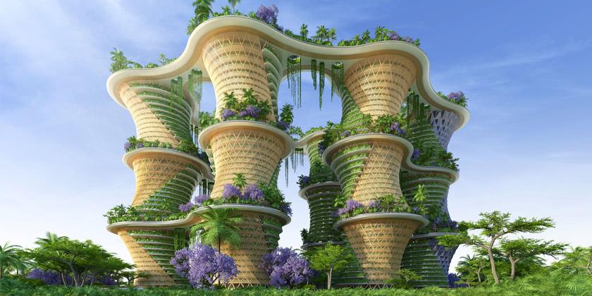 Проект эко-микрорайона для Индии от Vincent Callebaut Architectures