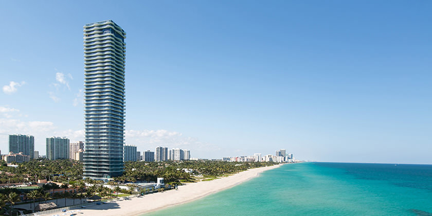 Проект жилой башни во Флориде от Arquitectonica