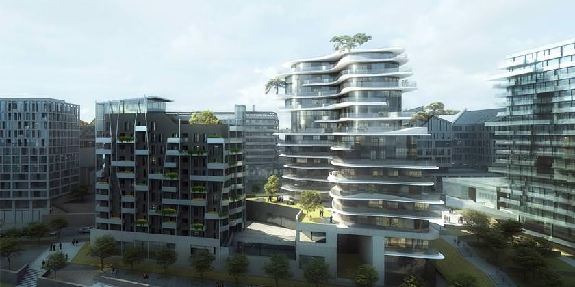 Новый ЖК UNIC в Париже. Проект MAD Architects
