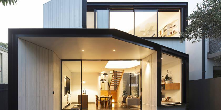 Unfurled House в Питершаме. Проект Christopher Polly Architect