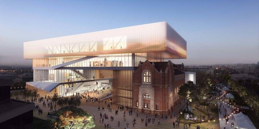 Новый музей в городе Перт. Проект Hassel и OMA