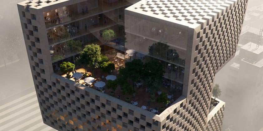 Сложная геометрическая башня от Snøhetta в Бейруте
