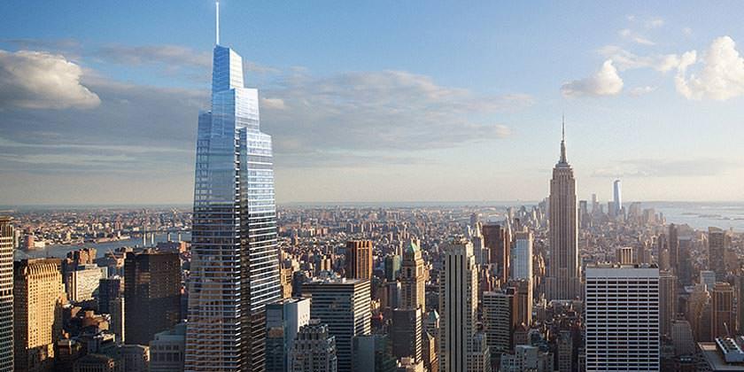 Второй высочайший небоскреб Нью-Йорка One Vanderbilt от KPF