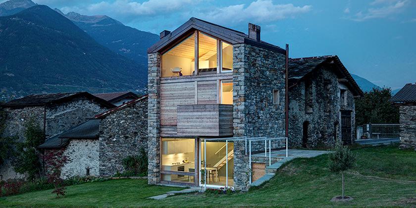 Дом на древних руинах в Италии SV House от Рокко Борромини