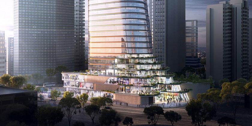 Башня в Шанхае от Aedas Architects