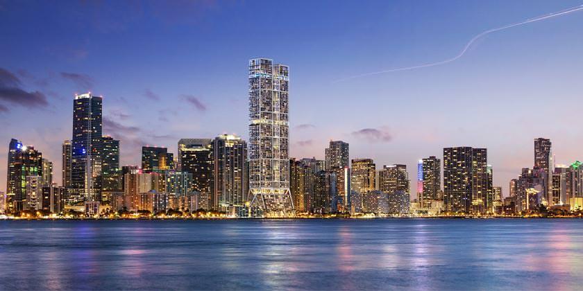 Foster + Partners построит башни-близнецы в Майами